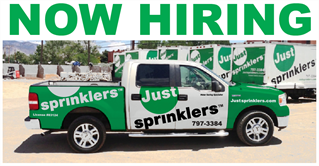 Just Sprinklers is now hiring!