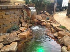 Outdoor water feature by Just Sprinklers